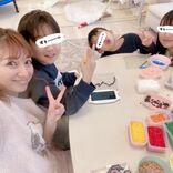 """辻希美、3人の子供とのピースSHOT&""""鬼滅の刃""""アイロンビーズ作品を公開「めっちゃ可愛い」"""