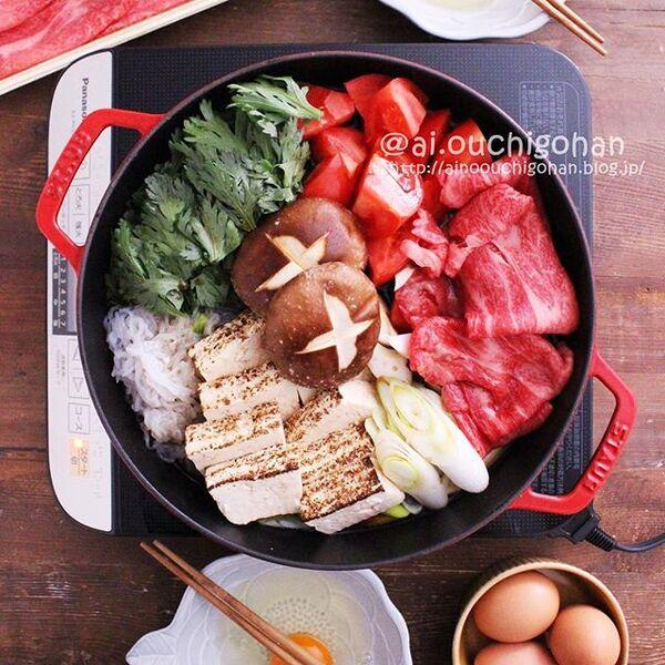 父の日の食事に!和食レシピでトマトすき焼き