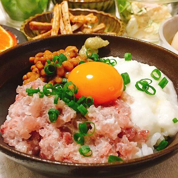 父の日は手料理で和食レシピを!納豆ネギトロ丼