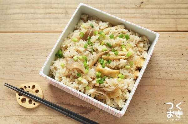 父の日のレシピに!きのこと生姜の炊き込みご飯