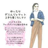 「ゆったりデニムジャケット」を着こなすには、ボトムス選びがキモ