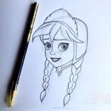 ディズニーパークスのドローイングクラス動画を見てお絵描き。ディズニーキャラクターに挑戦してみよう