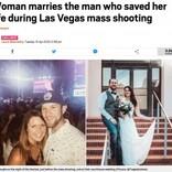 ラスベガス銃乱射事件で命を守ってくれた男性と結婚した女性(米)
