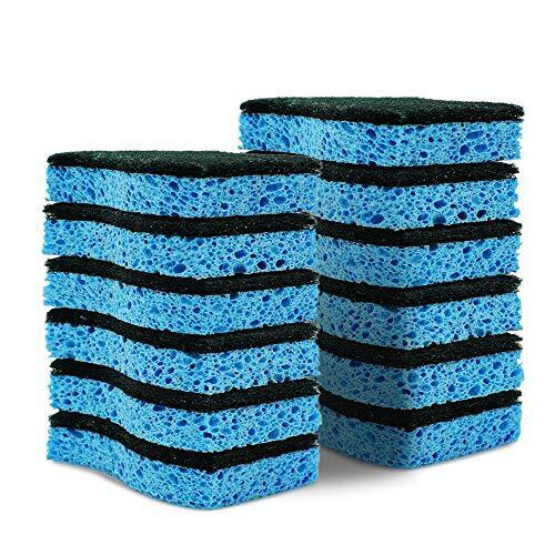 スポンジ Cleanhome キッチンスポンジ セルロース 掃除用品 泡立ち簡単 傷つけず 洗浄しやすい 12個セット