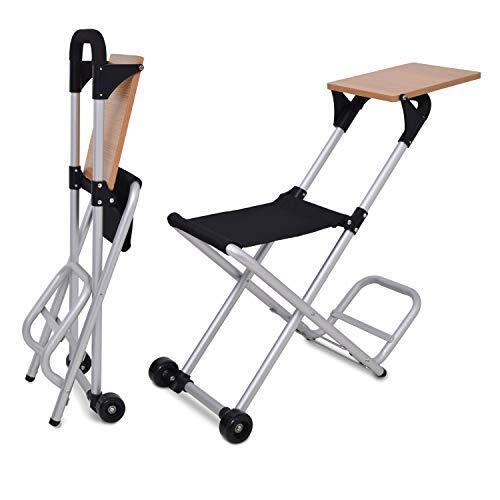 多機能キャリーカート HG-PQ-003 台車 多機能 チェア付き ミニテーブル付き 折りたたみ お洒落 簡単組立