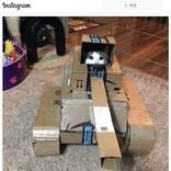 自宅遊びの一環!? ネコ用の段ボール戦車を作る人が急増中