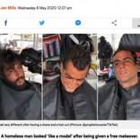 30歳ホームレス、善意のヘアカットでイケメンに モデルのオファーも(米)<動画あり>