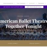 アメリカン・バレエ・シアターが80周年記念ガラ・イベントをオンラインで開催