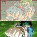 超貴重! 『僕のヒーローアカデミア』アニメの線撮と本編の比較ムービーが公開に!
