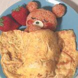 #おうちカフェ にかわいいくまの『お布団オムライス』はいかが?作り方をご紹介♡