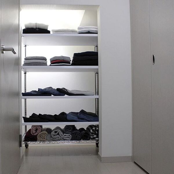 衣類の種類ごとに畳み方を変える