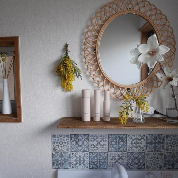 洗面台の鏡として使う