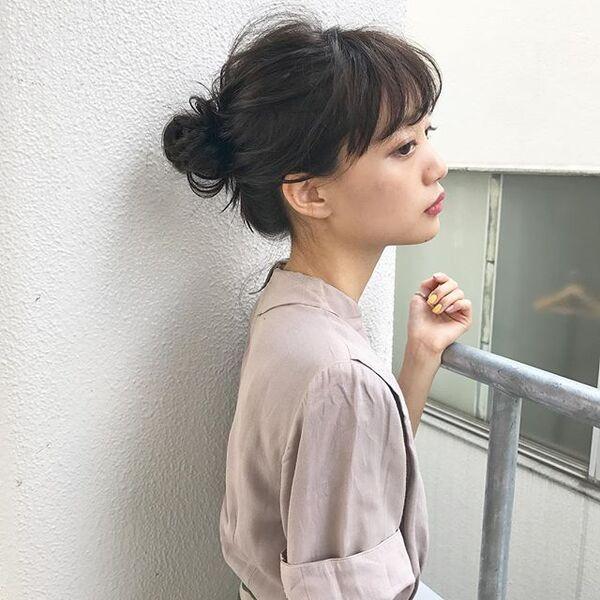 花火大会×ロング×シンプルお団子
