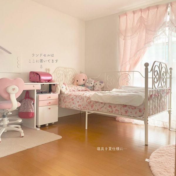 可愛いベッドを採用した子供部屋