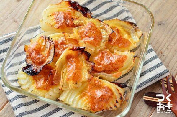 簡単に大量消費!玉ねぎチーズのオーブン焼き