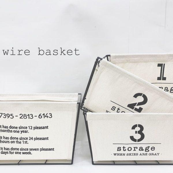 布付きのワイヤーバスケット