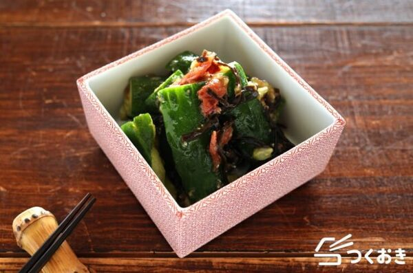 大量消費できるレシピ!きゅうりの梅塩昆布