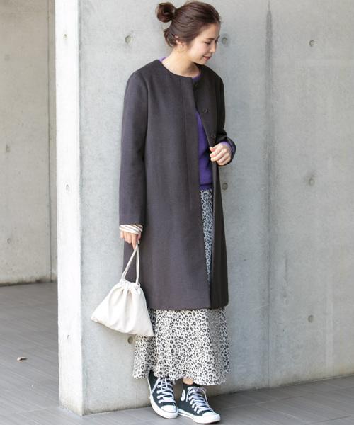 冬におすすめの着こなし◎コート×ナロースカート