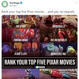 あなたが選ぶピクサー映画のトップ5は?