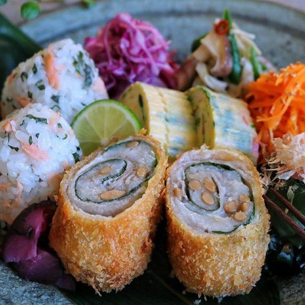 里芋と納豆の大葉肉巻きフライ