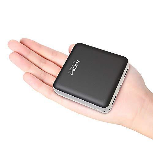 モバイルバッテリー 20000mah 大容量 軽量 小型 急速充電 2in1入力Lightning/Micro USB入力ポート2.1A出力 2USBポート 携帯充電器 スマホバッテリー PSE認証済MOXNICE iPhone& Xperia&Android各種対応 (ブラック)…
