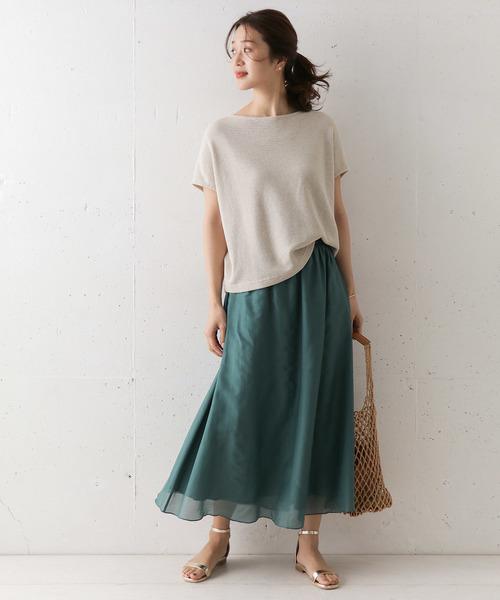 [URBAN RESEARCH DOORS] コットンシルクロングスカート
