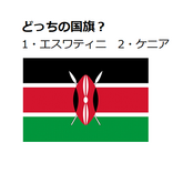 エスワティニ?ケニア?どちらの国旗でしょう【国旗クイズ#18】