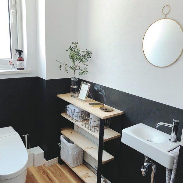 壁がおしゃれなトイレ