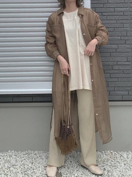 [RETRO GIRL] シアーシャツワンピース2