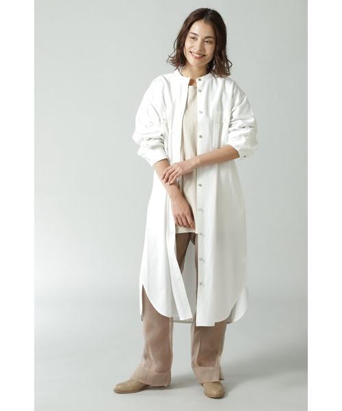 [ROSE BUD] ダブルポケットシャツワンピース