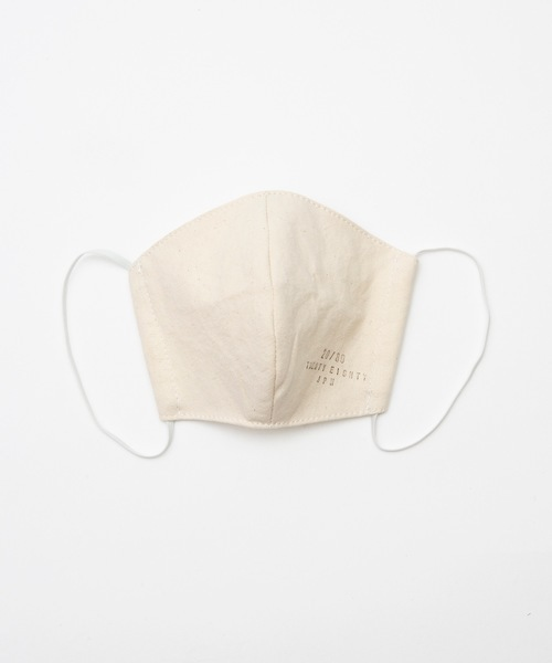 THE FRIDAY] 【20/80】トゥエンティーエイティー/FACE MASK マスク(2枚セット)倉敷帆布&内側ダブルガーゼ 日本製