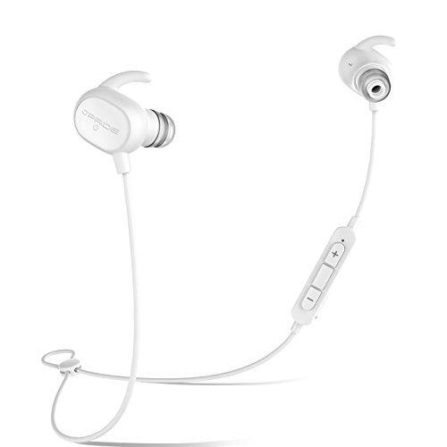 Bluetooth イヤホン (JPRiDE) JPA1 MK-II iphone7 対応 ブルートゥース 4.1 AAC aptX 高音質コーデック対応 ワイヤレスイヤホン 超小型 軽量 12.7g APT-X IP64 防塵防水 CVC6.0 ノイズキャンセリング マイク内蔵 ハンズフリー通話 技適認証済 (AAC APT-X 両対応 ホワイト)