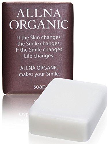 オルナ オーガニック 石鹸 「 無添加 敏感 肌用 毛穴 対策 洗顔石鹸 」「 コラーゲン 3種   ヒアルロン酸 4種   ビタミンC 4種   セラミド 配合」 保湿 固形 洗顔 せっけん バスサイズ 100g