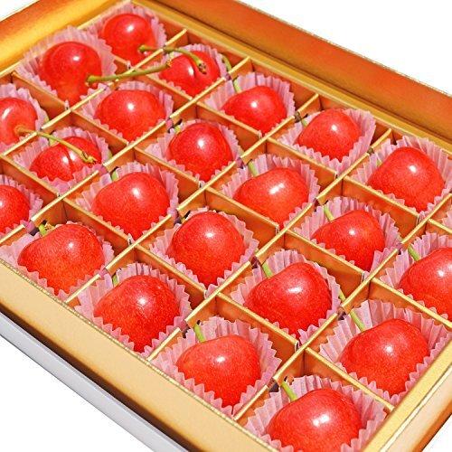 父の日 ギフト 山形県産 特秀 さくらんぼ佐藤錦 L玉 24粒 化粧箱