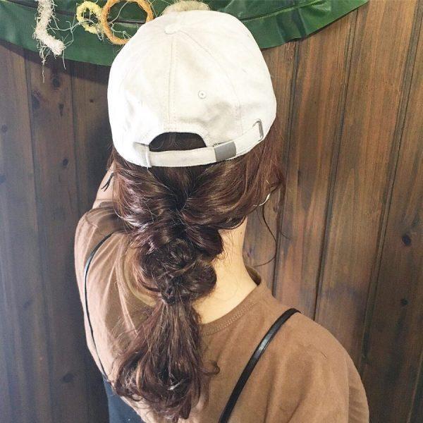 キャップに似合うヘアアレンジ《ロング》2