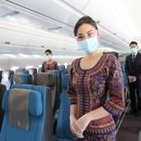 シンガポール航空、衛生基準強化で機内・空港での接触リスク低減へ 乗客へのケアキット配布も