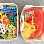 無印でおもちゃ収納が解決。ボックス、ケース、バスケットを使い分け
