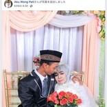 65歳の女性、養子にした24歳男性からプロポーズを受けて結婚(インドネシア)
