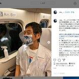 明石家さんまさんが「鬼滅の刃」竈門禰豆子のマスクを装着 次長課長・井上聡さんがインスタグラムに投稿し反響を呼ぶ