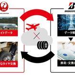 JALとブリヂストン、航空機タイヤの摩耗予測でタイヤ交換を効率化