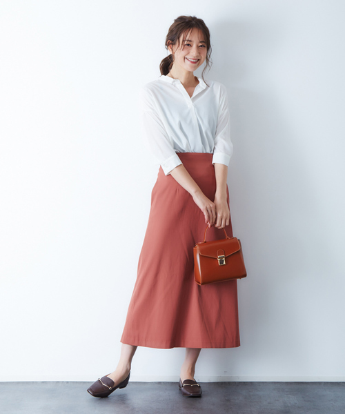 [Rouge vif la cle] ラチネセミフレアスカート
