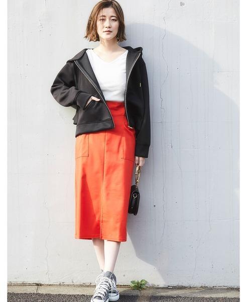 [tocco closet] ハイウエストポケットデザインタイトスカート