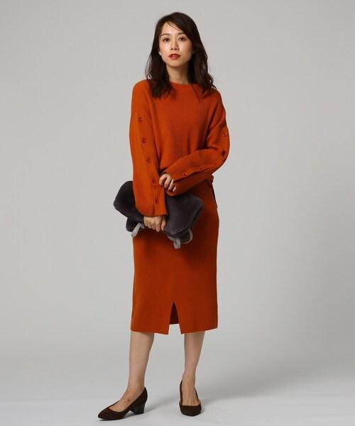 [UNTITLED] ウールカシミヤブレンドリブニットタイトスカート