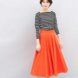 オレンジスカートの秋コーデ【2020】差がつく大人のおしゃれな着こなし♪