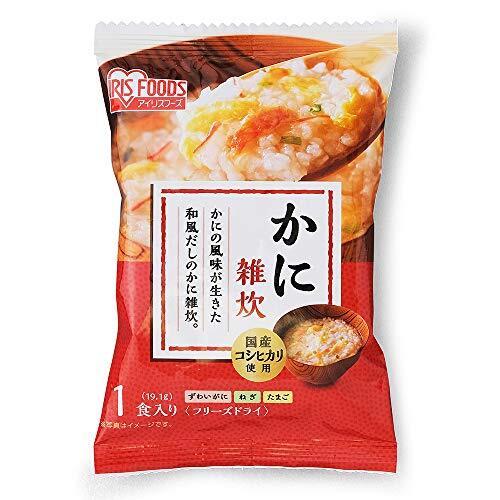 アイリスオーヤマ かに 雑炊 フリーズドライ 蟹 国産 こしひかり 使用 ×30個