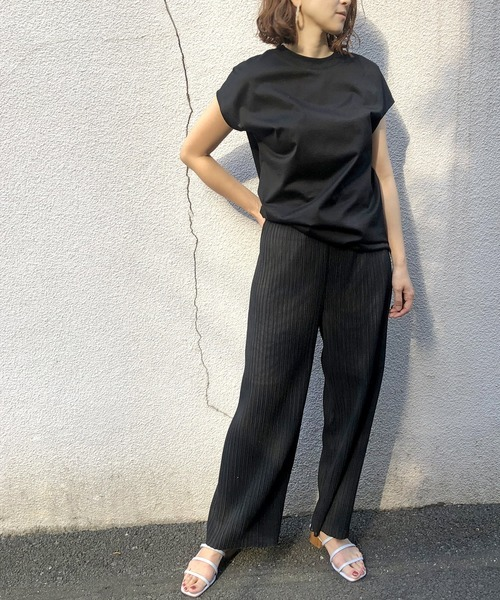 [ADAM ET ROPE'] 【UVケア・耐洗濯】PrimazymドルマンチュニックT-shirts