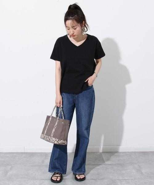 [coen] USAコットンVネックTシャツ