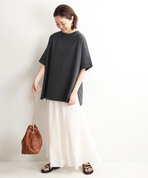 黒Tシャツの夏コーデ2
