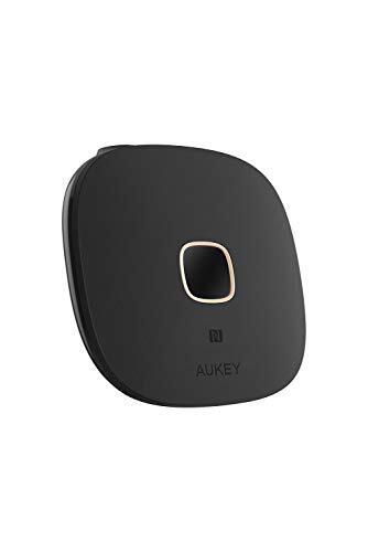 AUKEY Bluetoothレシーバー ブルートゥース オーディオレシーバー NFC機能搭載 ワイヤレス化 高音質 10時間連続使用 3.5mmミニプラグ接続 2年間安心保証 ブラック BR-C16