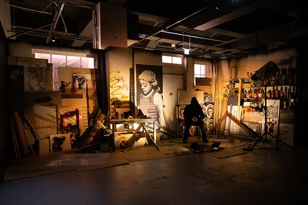 『バンクシー展 天才か反逆者か』「アーティスト・スタジオ」展示風景